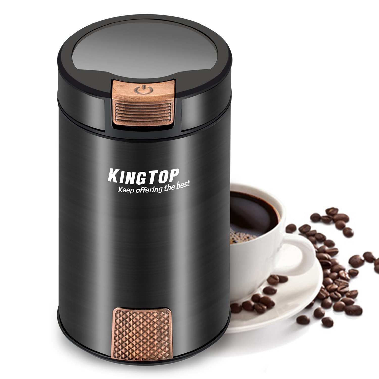 KINGTOP Electric 200W Coffee Grinder | Wright Reviews